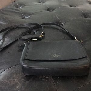 Kate Spade black leather Crossbody